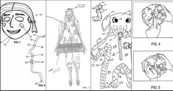 Pantents 1-5. Photo: U.S Patent office files (public domain)