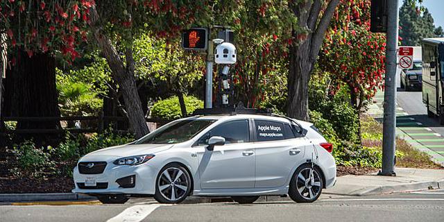 אפל מכונית מצלמה Camera-Car מפות מיפוי, צילום: אי פי