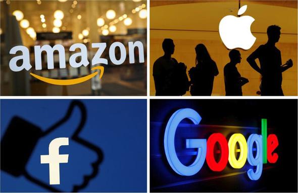 חברות טכנולוגיה גוגל פייסבוק אפל אמזון , צילום: רויטרס