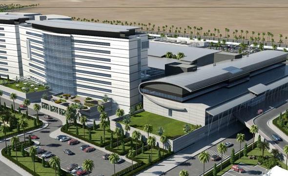"""בית החולים בעיר הרפואית ע""""ש המלך עבדאללה בן עבדאלעזיז , צילום: arabianbusiness"""