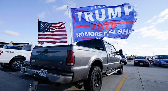 עצרת בחירות תומכי דונלד טראמפ 1.11.20, צילום: איי פי
