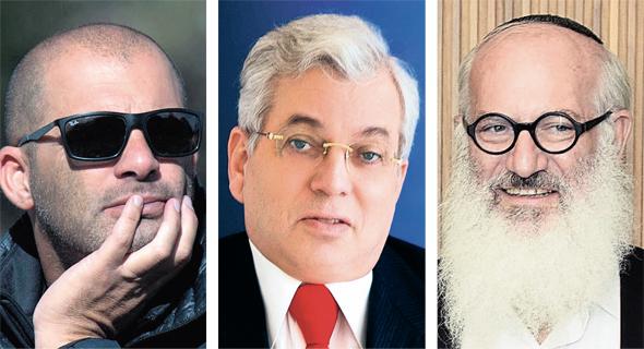 מימין: אדוארדו אלשטיין, אהרון פרנקל וצחי נחמיאס