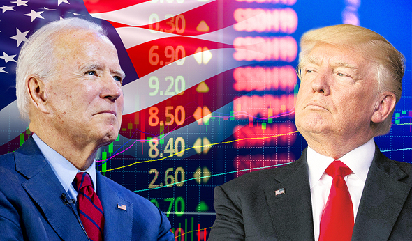 דונלד טראמפ ג'ו ביידן בורסה מניות, צילום: איי פי, שאטרסטוק