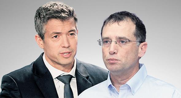 """מימין מנכ""""ל בזק בינלאומי רן גוראון ושר התקשורת יועז הנדל, צילומים: אוראל כהן, יריב כץ"""