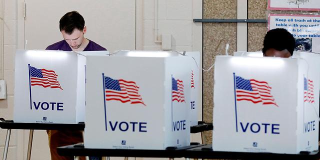 קלפי הצבעה בארצות הברית, צילום: איי אף פי