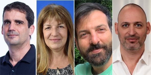 מימין: יקי נוימן, רם עמר, דורית הוכנר, שחר בן מויאל