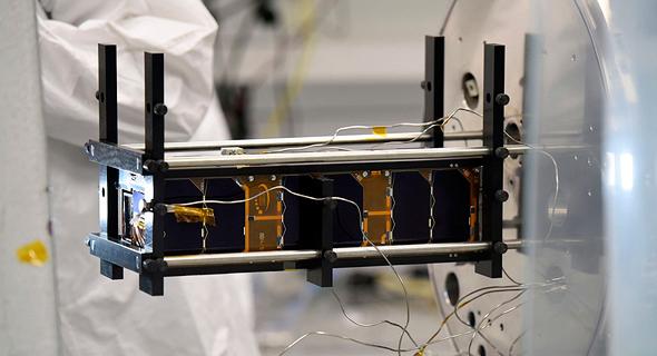 The new TAU-SAT1 nanosatellite. Photo: Tel Aviv University