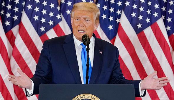 דונלד טראמפ נאום ניצחון מוקדם בחירות לנשיאות 2020, צילום: איי פי