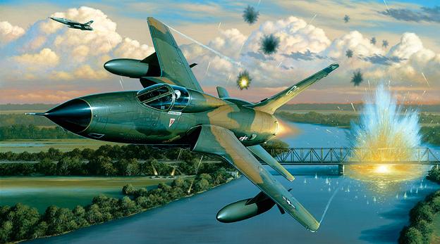 הקברניט מלחמת וייטנאם רעם מתגלגל תקיפה הפצצה 1, מקור: theaviationgeekclub