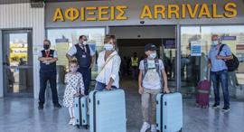 שדה תעופה הרקליון כרתים יוון מדינה אדומה, צילום: אי פי