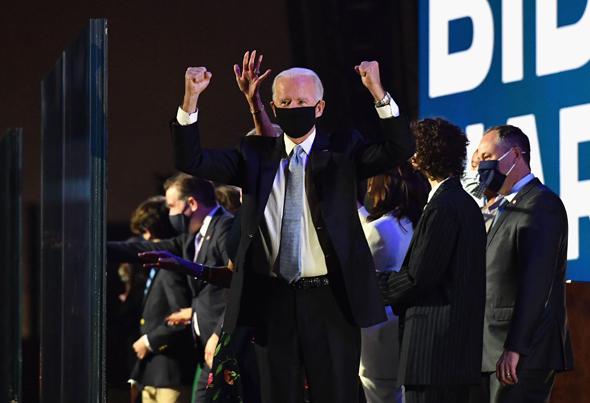 ביידן בליל הזכייה בבחירות, צילום: אי אף פי