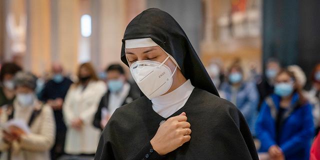 נזירה בברצלונה, צילום: איי פי