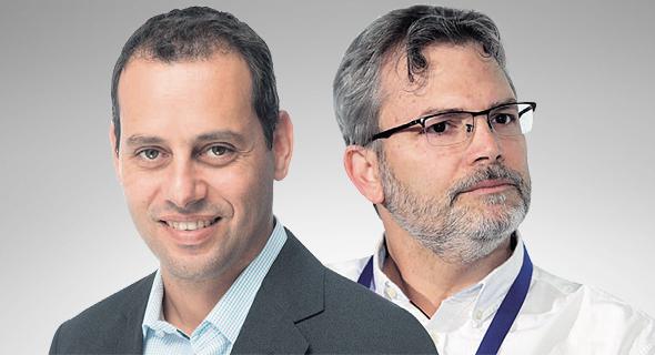 "מימין אורי אלדובי ומנכ""ל הפניקס אייל בן סימון, צילומים: אוראל כהן, פביאן קולדורף"
