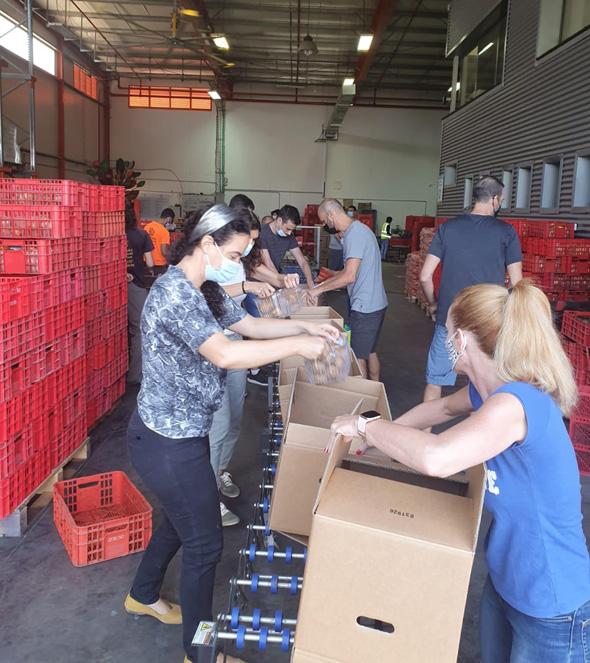 עובדי חברת פינסטרה בפעילות התנדבות