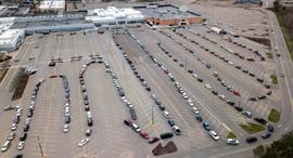 פוטו תורים 2020 קורונה מכוניות מישיגן, צילום: AP