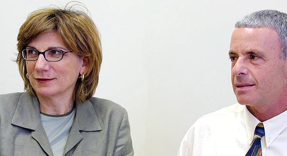 מימין קובי חיון מנכל בזק בינלאומי ליאורה מרידור יושבת ראש בזק בינלאומי, צילום: אביגיל עוזי