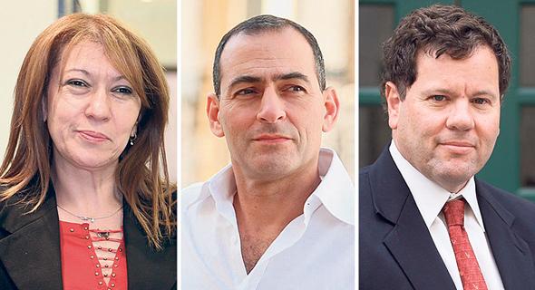 מימין אילן כהן, דוד דה פריס וסבטלנה שטדלר