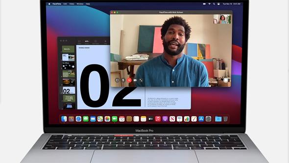 מקבוק פרו עם מעבד M1, צילום מסך: Apple