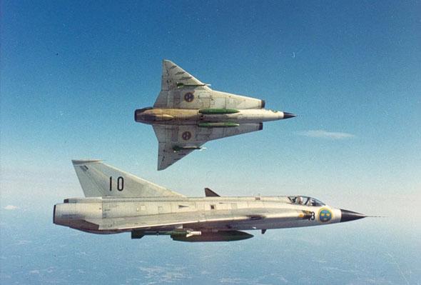 מטוסי דראקן של חיל האוויר השבדי, צילום: acesflyinghigh