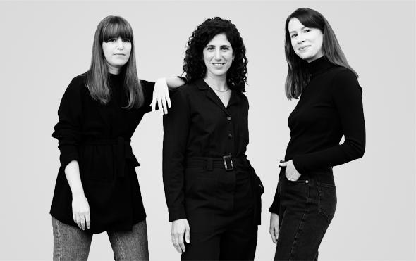 """מימין: נועה גור, דפנה רובין ונוי גוז. """"סטורי זה חלום שהתגשם"""", צילום: אורית פניני"""