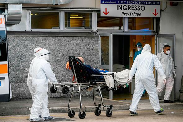 בית חולים קרדרלי בנאפולי, צילום: איי אף פי