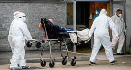 איטליה קורונה בית חולים  קרדרלי ב נאפולי 12.10.20, צילום: איי אף פי