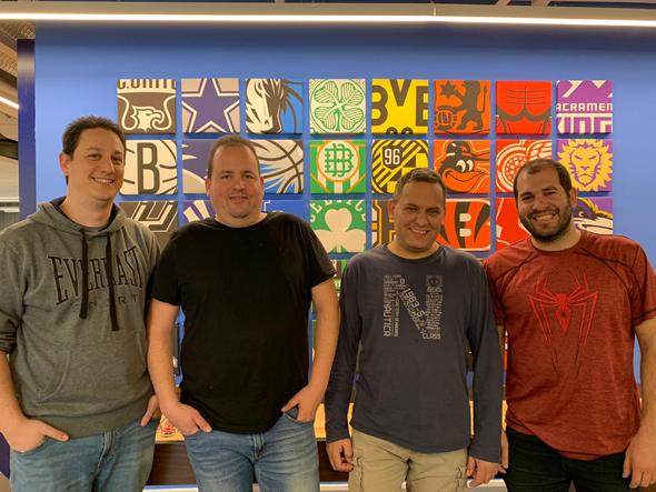 Aviv Arnon, Shmulik Yoffe, Hy Gal, and Daniel Shichman. Photo: WSC Sports