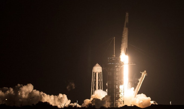 SpaceX's launch of its Falcon 9 rocket. Photo: NASA