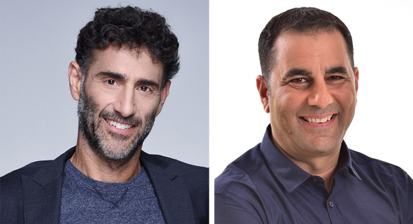 JFrog CEO Shlomi Ben Haim (right) and Qumra Capital managing partner Boaz Dinte. Photo: Courtesy