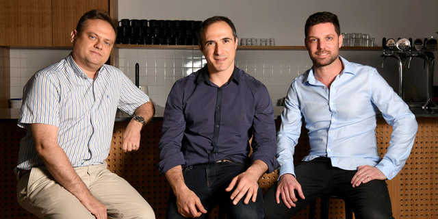 Fireblocks co-founders Idan Ofrat (from right), Michael Shaulov and Pavel Berengoltz. Photo: Yossi Zeliger