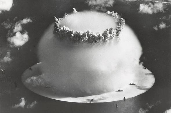 אוניות ניסוי קרוסרודס תחת הפטרייה הגרעינית