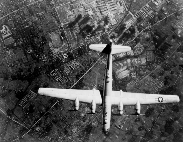 הזרוע הארוכה החדשה: מטוסים ולא אוניות. מפציץ B29