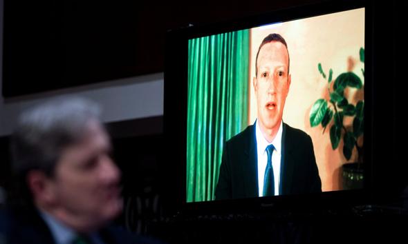 מארק צוקרברג בעדות בסנאט , צילום: רויטרס
