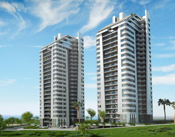 פרויקט מגדלי המפרש. 2 מגדלי יוקרה ו-158 יחידות דיור בקו ראשון לים, הדמיה: באדיבות האחים ישראל