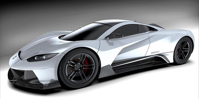 מכונית-על חשמלית אמריקאית חדשה תאיים על פרארי ולמבורגיני