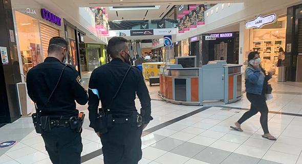 שוטרים בקניון איילון של עזריאלי, אתמול