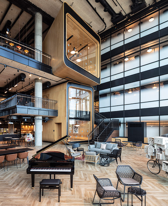 Inside Microsoft's new campus. Photo: Amit Garon