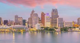 The Detroit city skyline. Photo: Shuttertock