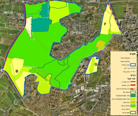 """מפת תוכנית אנ""""מ גבעות הכורכר"""