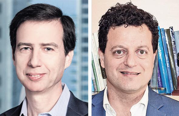 Bank Leumi Chairman Dr. Samer Haj Yehia (R), Chief Executive Officer Hanan Friedman (L)