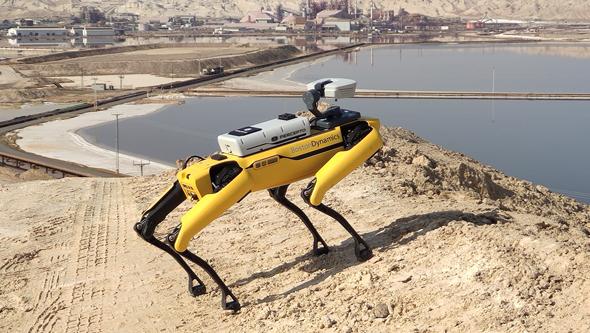 הרובוט ספוט עם טכנולוגייה של פרספטו