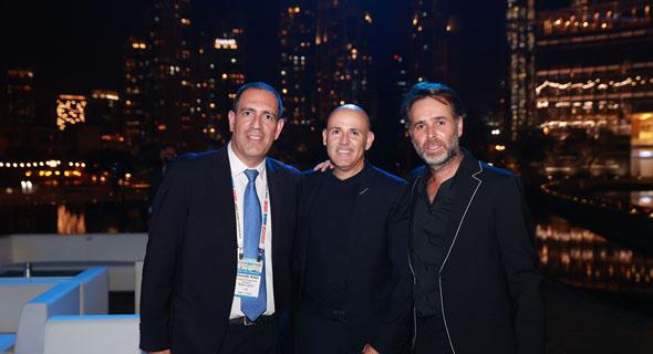 מימין ברק רוזן, אסף טוכמאייר ושמוליק ארבל, צילום: אוראל כהן