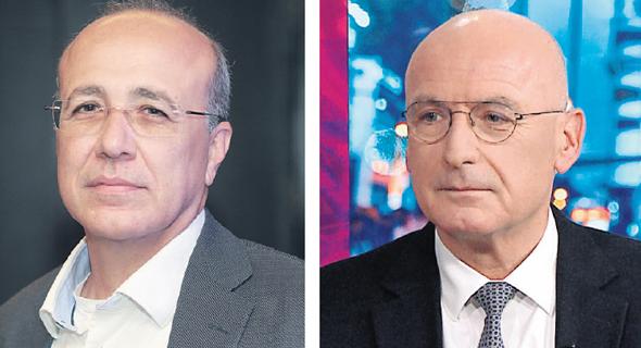 מימין: המפקח על הבנקים יאיר אבידן, והממונה על שוק ההון משה ברקת