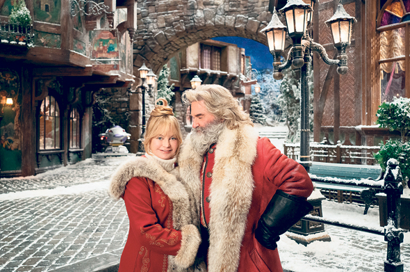 """קורט ראסל עם גולדי הון ב"""" להציל את חג המולד 2"""""""