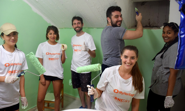 OneDay volunteers. Photo: Nir Langer
