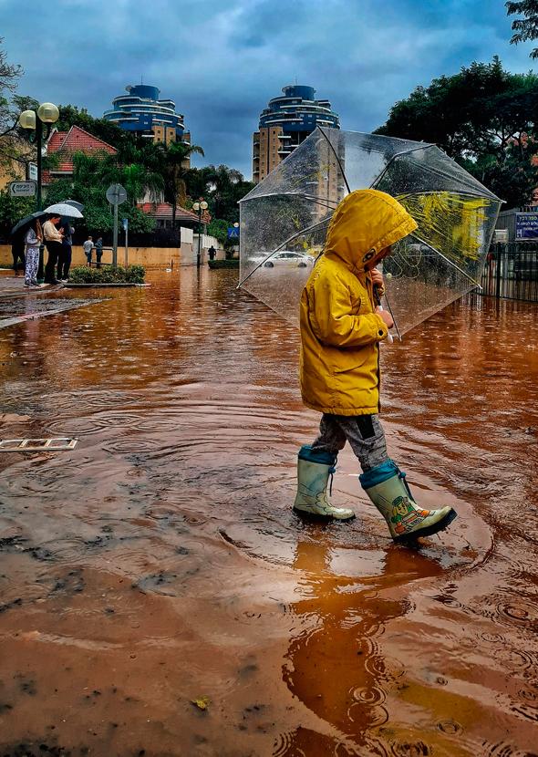 הצפה בהוד השרון, צילום: אסי דבילנסקי