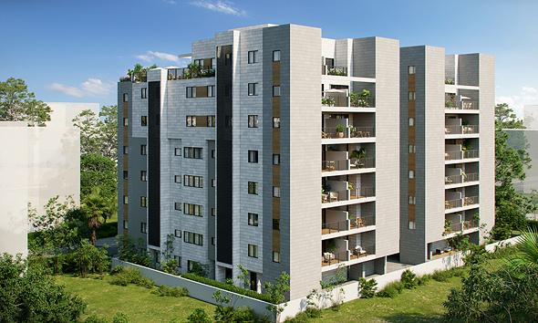 """פרויקט התמ""""א 38 ברחוב ויניק 16-14 בשכונת רמז, הדמיה: זיתוני הדמיות אדריכליות"""