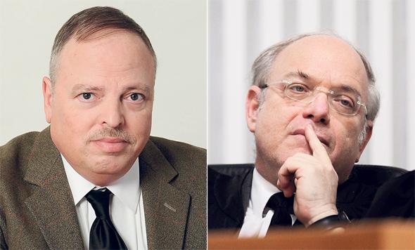 """מימין: השופט ניל הנדל ועו""""ד יראון פסטינגר. האומנם תשואה של 3% ריאלית היום?"""