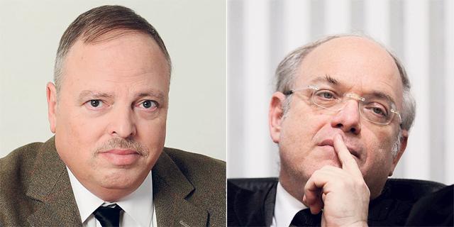 """מימין: השופט ניל הנדל ועו""""ד יראון פסטינגר. האומנם תשואה של 3% ריאלית היום?, צילום: אלכס קולומויסקי, משרד עורכי דין רון-פסטינגר"""