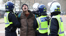 קורונה הפגנה ב לונדון בריטניה נגד ה סגר, צילום: רויטרס